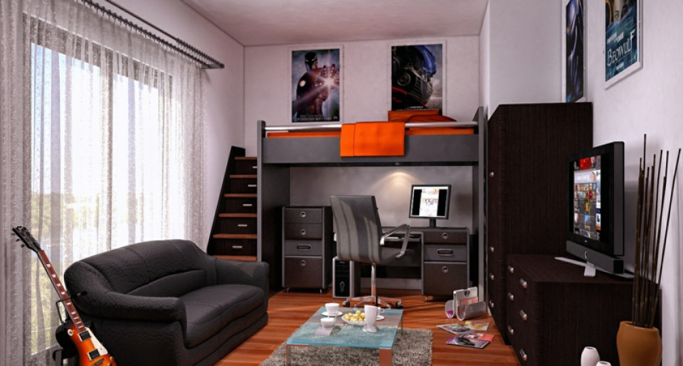 Desain kamar tidur khusus untuk remaja dan abg dijamin - Jugendzimmer fur jungs ...
