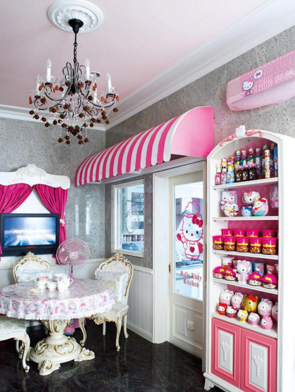 Rumah Tema Hello Kitty Dari Hiasan Sampai Furniture Serba Pink Dan