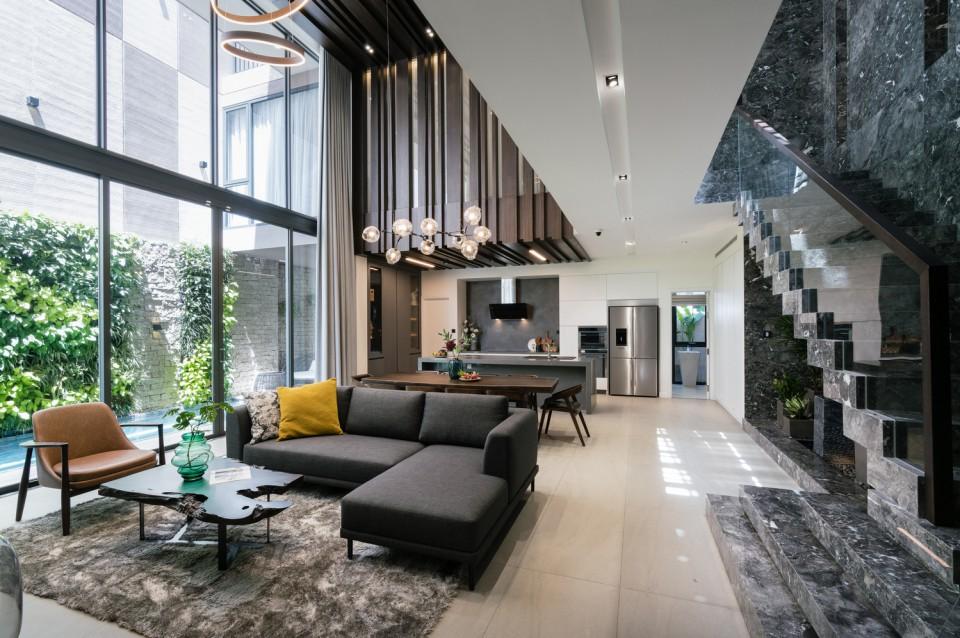 Rumah Minimalis 2 Lantai Void the rough house rumah mewah dan elegan di vietnam yang