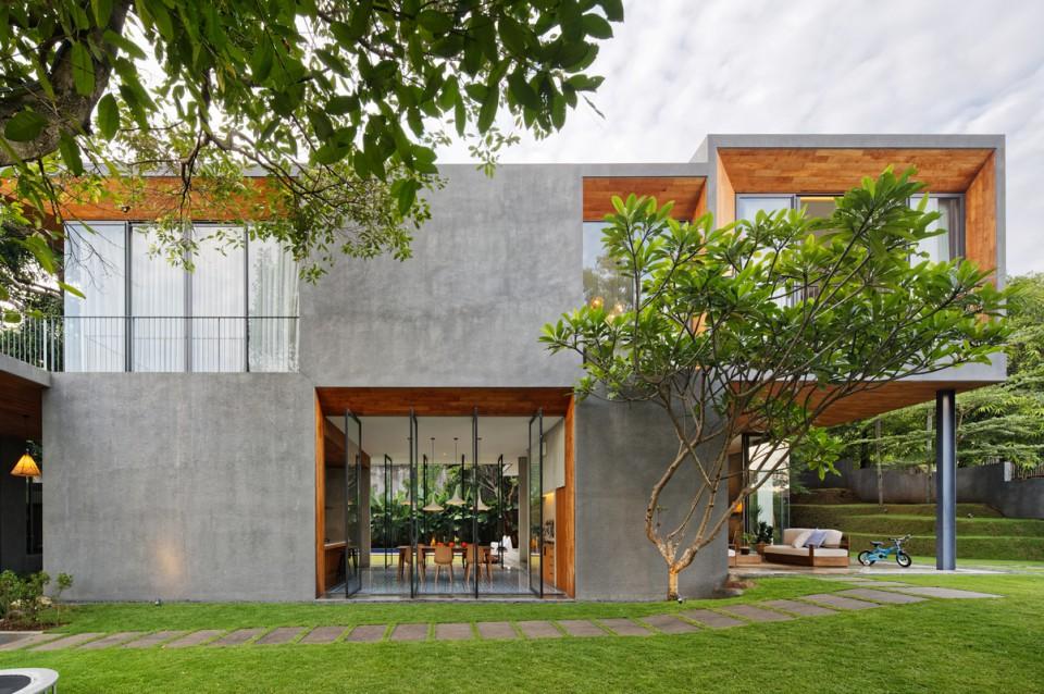 Bukit Kopi Residence Ruang Terbuka Hijau Hingga Perpaduan Dua Material Yang Membuat Rumah Terasa Natural Dan Unik Furnizing