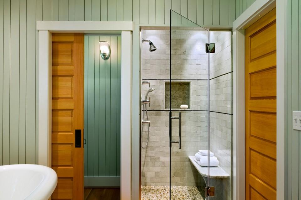 Desain Area Shower Pada Kamar Mandi Yang Menyajikan Suasana Segar Dan Santai Furnizing